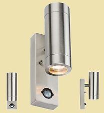 Knightsbridge Stainless Steel Wall Garden Globe Light Motion Detector PIR Sensor
