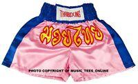 Kids Childrens  Muay Thai Boxing Shorts Kick Boxer Satin XXS - M  MMA Childs