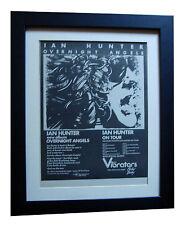 IAN HUNTER+Overnight Angels+POSTER+AD+RARE ORIGINAL 1977+FRAMED+FAST GLOBAL SHIP