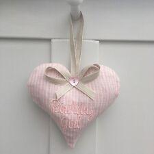 1 SARAH HARDAKER BIRTHDAY GIRL GIFT Pink MAJOLICA STRIPE Fabric Lavender Heart