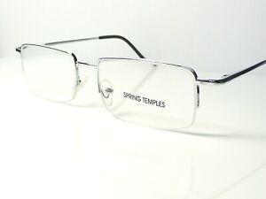 Mens Semi Rimless Spring Hinge Reading Glasses R51