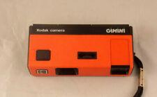 Kodak Camera Gimini 110 Film Camera Collectible Rare Orange
