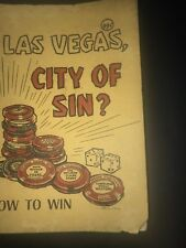 Las Vegas City Of Sin? How To Wins Old Pictures Dick Taylor Pat Howell 1964 Book