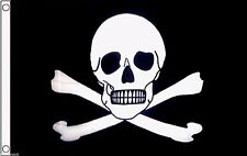 Pirate Jolly Roger Skull and Crossbones Poison Warning 5'x3' Flag !