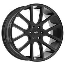 "4-NEW 20"" Inch Avenue A614 20x9 6x139.7(6x5.5"") +30mm Satin Black Wheels Rims"