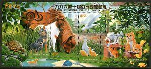 Australia 1996 Pets Mini Sheet Overprinted 10th Asian Exhibition Mint Unhinged