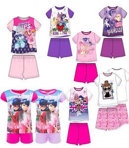 Schlafanzug Pyjama kurzärmlig LOL Miraculous Paw Patrol Baumwolle Kinder Neu