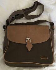ELLINGTON Twill/Leather HEIDI Messenger Bag Purse Crossbody-NEW