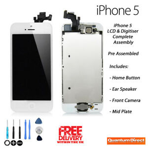 NEW iPhone 5 Complete Pre Assembled Retina LCD + Digitiser Touch Screen - WHITE