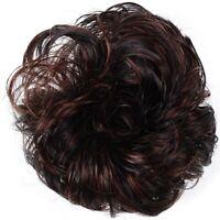 1X( Women Hair Wave Scrunchie Bun Extensions Curly Ponytail Hairpiece N7S9)