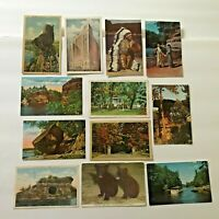 Lot 12 Wisconsin Postcards Vintage Dells Chief Blowsnake Dell Queen Milwaukee