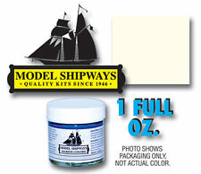 Model Shipways 1oz. Bottle -Warm White Paint for Wood Models & Historic Ships