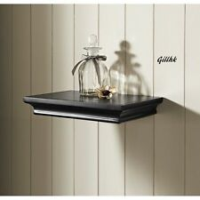 Classical Style 30cm MDF Floating Wall Shelf Shelves  Black