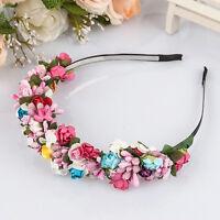 New Flower Garland Floral Bride Headband Hairband Wedding Party Festival Decor