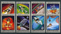 Rwanda 1970 MNH Moon Missions 8v Set Space Apollo Stamps