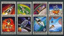 Rwanda 1970 neuf sans charnière Moon Missions 8 V set de l'espace APOLLO STAMPS