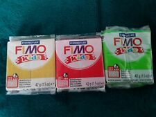 3 Packs Staedtler FIMO Kids Modeling Clay Glitter Gold Yellow, Red, Lime Green