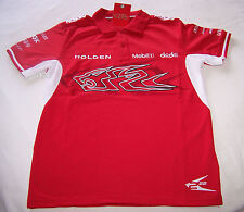 Holden Racing Team HRT Boys Red White Embroidered Polo Shirt Size 12 New
