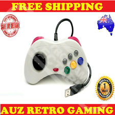 White USB Game Controller Sega Saturn Joystick PC & Mac - Windows