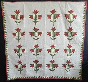 Antique 1860 North Carolina Lily Quilt