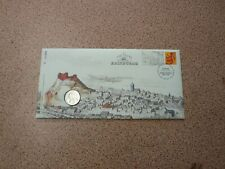 2011 United Kingdom brilliant uncirculated Edinburgh £1 coin & stamp cover