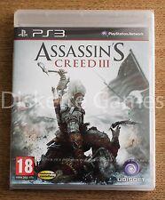 ASSASSIN'S CREED III - PLAYSTATION 3 PS3 PLAY STATION 3 - PAL ESPAÑA - NUEVO
