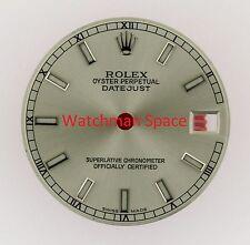 Original Rolex Midsize Datejust 68240 68274 Silver Luminous Stick Dial S/S #L27