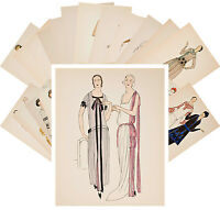 Postcards Pack [24 cards] Vintage Fashion Dress Sketch Belle Epoque vol 1 CC1110