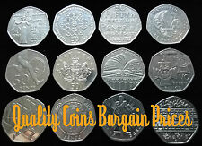 Rare 50p Coins, Jemmima Puddle Duck, Olympic and Commemorative, Excellent Prices