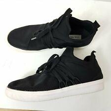 6b2b9150de8 Steve Madden  Lancer  Black Fabric Lace Up Low Top Sneakers Women s UK 6 EUR