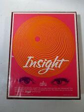 Vtg INSIGHT Games Research Inc Bookshelf 1962 Midcentury Board Game #1