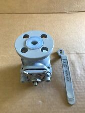 """PFA lined Carbon Steel ball valve 150# flanged 3/4"""""""