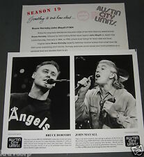 BRUCE HORNSBY/JOHN MAYALL 'AUSTIN CITY LIMITS' 1994 PRESS KIT—PHOTO