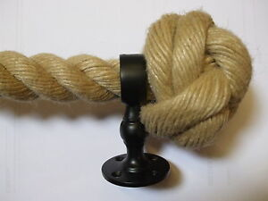 SYNTHETIC HEMP BANNISTER ROPES CHOOSE DIAMETER, LENGTH AND FITTINGS