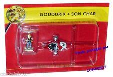 Le VILLAGE d'ASTERIX n° 26 figurine GOUDURIX et son CHAR Atlas PLASTOY figure