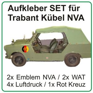 Aufkleber Set für Trabant Kübel Trabi Stoffhund NVA DDR