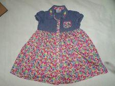 Ladybird Girls Floral Printed Short Sleeve Dress 100% Cotton Size 9-12 Months