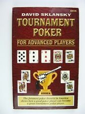 Tournament Poker For Advanced Players Second Edition David Sklansky