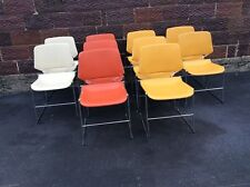 Lot Of 10 Vintage Krueger Matrix Stacking Chairs - Chrome / Plastic- Good
