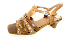 ARIANE braune Sandaletten Pumps Damen Schuhe Sommer 38 UK 5 elegant Riemchen °LL
