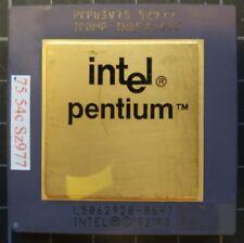 INTELPCPU3V75 SZ977  PENTIUM 75MHZ CPU PROCESSOR Gold Ceramic