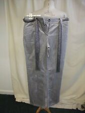 Ladies Trousers Per Una outlet, silver grey corduroy, UK 14 long, stretch 0904