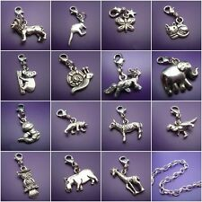1 Tibetan silver animal clip on charms for bracelets  BUY 5 OR 10 FOR A DISCOUNT