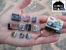 Zelda Miniature Set Collector's Edition. 4 Console box& 10 Videogames.Scale 1:12