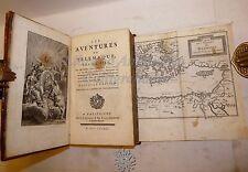 FENELON: Aventures de TELEMAQUE 1782 Maastricht Antiporta Tavole Carta LEGATURA