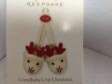 Hallmark grandbaby first Christmas 2012 reindeer slippers ornament new H25