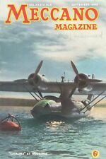 1949  SEPTEMBER 33602 Meccano Magazine Cover Picture  CATALINA AT MOORINGS