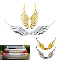 1 Pair car 3D wings metal stickers car motorcycle accessories stickers
