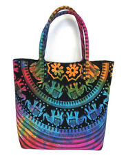 Shoulder Bag Women Beach Towel Bags Multi Tie Dye Elephant Mandala Throw