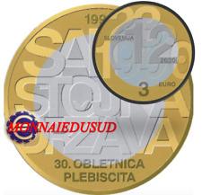 3 Euro Commémorative Slovénie 2020 - Indépendance de la Slovénie